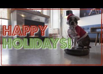 Hond Op Stofzuiger – Kersteditie